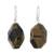 Tiger's eye dangle earrings, 'Honeyed Nugget' - Tiger's Eye Dangle Earrings on Sterling Silver Hooks thumbail