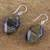 Tiger's eye dangle earrings, 'Honeyed Nugget' - Tiger's Eye Dangle Earrings on Sterling Silver Hooks (image 2b) thumbail