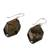 Tiger's eye dangle earrings, 'Honeyed Nugget' - Tiger's Eye Dangle Earrings on Sterling Silver Hooks (image 2c) thumbail