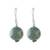 Jade dangle earrings, 'Touch of Jade' - Jade Bead and Sterling Silver Dangle Earrings from Thailand (image 2a) thumbail