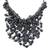 Cultured pearl pendant necklace, 'The Enchanting Dark' - Bold Black Cultured Pearl Pendant Necklace from Thailand thumbail