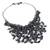 Cultured pearl pendant necklace, 'The Enchanting Dark' - Bold Black Cultured Pearl Pendant Necklace from Thailand (image 2d) thumbail