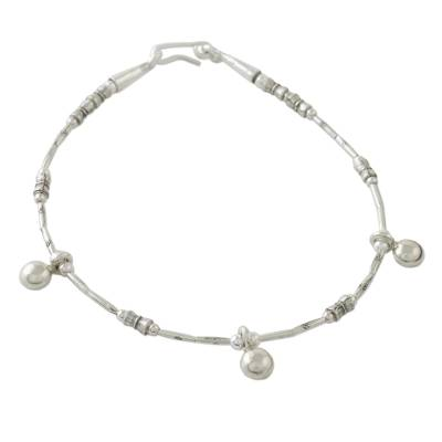 Thai Hill Tribe Silver Handcrafted Sterling Charm Bracelet