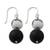 Onyx and ceramic dangle earrings, 'Night Lotus' - Artisan Handmade Onyx Hematite 925 Sterling Silver Earrings (image 2b) thumbail
