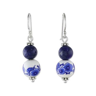 Artisan Handmade 925 Sterling Silver Lapis Lazuli Earrings