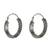 Sterling silver hoop earrings, 'Charming Chain' - Chain Motif Sterling Silver Hoop Earrings from Thailand (image 2a) thumbail