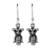 Sterling silver dangle earrings, 'Cute Owls' - Owl-Shaped Sterling Silver Dangle Earrings from Thailand (image 2a) thumbail