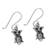 Sterling silver dangle earrings, 'Cute Owls' - Owl-Shaped Sterling Silver Dangle Earrings from Thailand (image 2c) thumbail