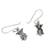 Sterling silver dangle earrings, 'Cute Owls' - Owl-Shaped Sterling Silver Dangle Earrings from Thailand (image 2d) thumbail