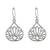 Sterling silver dangle earrings, 'Shimmering Lotus' - Lotus-Shaped Sterling Silver Dangle Earrings from Thailand (image 2c) thumbail