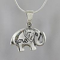 Featured review for Sterling silver pendant necklace, Elephant Adoration