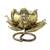 Iron tealight candleholder, 'Lotus Glow' - Floral Iron Tealight Holder from Thailand (image 2a) thumbail