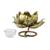 Iron tealight candleholder, 'Lotus Glow' - Floral Iron Tealight Holder from Thailand (image 2d) thumbail