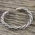 Sterling silver cuff bracelet, 'Chiang Mai Signature' - Handmade Sterling Silver Thai Hill Tribe Cuff Bracelet (image 2b) thumbail
