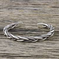 Featured review for Sterling silver cuff bracelet, Lanna Allure