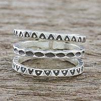 Sterling silver wrap ring, 'Lanna Dreams' - Handmade Sterling Silver Wrap Ring from Thailand