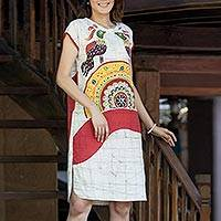 Featured review for Cotton batik dress, Pheasant Singing