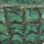 Recycled paper decorative bowl, 'Green Web' - Handcrafted Decorative Bowl in Green from Thailand (image 2d) thumbail