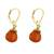 Gold plated carnelian dangle earrings, 'Grand Treasure' - Handmade 18k Gold Plated Carnelian Dangle Earrings (image 2c) thumbail