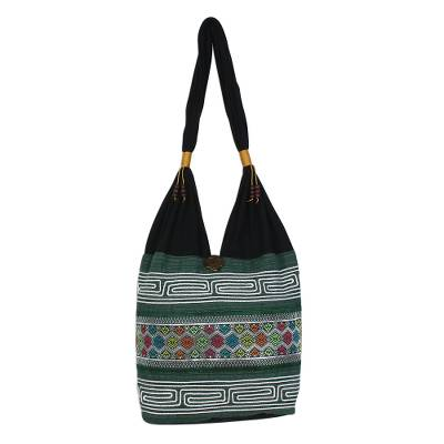 Colorful Cotton Blend Shoulder Bag from Thailand