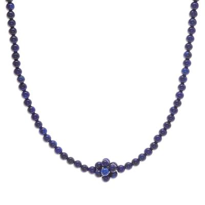 Lapis Lazuli Beaded Pendant Necklace from Thailand