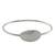 Sterling silver bangle pendant bracelet, 'Silver Moonrise in Smooth' - Sterling Silver Bangle Bracelet with Smooth Oval Pendant (image 2a) thumbail
