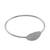 Sterling silver bangle pendant bracelet, 'Silver Moonrise in Smooth' - Sterling Silver Bangle Bracelet with Smooth Oval Pendant (image 2c) thumbail