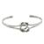Sterling silver cuff pendant bracelet, 'Happy Together' - Sterling Silver Wire Cuff Bracelet with Center Knot (image 2a) thumbail