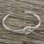 Sterling silver cuff pendant bracelet, 'Happy Together' - Sterling Silver Wire Cuff Bracelet with Center Knot (image 2b) thumbail