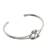 Sterling silver cuff pendant bracelet, 'Happy Together' - Sterling Silver Wire Cuff Bracelet with Center Knot (image 2c) thumbail