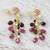 Gold plated multi-gemstone dangle earrings, 'Glittering Beetles' - Gold Plated Multi-Gem Beetle Earrings from Thailand (image 2b) thumbail