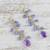 Gold accented amethyst and tanzanite dangle earrings, 'Lilac Wind' - Gold Plated Amethyst and Tanzanite Earrings from Thailand (image 2b) thumbail