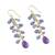 Gold accented amethyst and tanzanite dangle earrings, 'Lilac Wind' - Gold Plated Amethyst and Tanzanite Earrings from Thailand (image 2c) thumbail