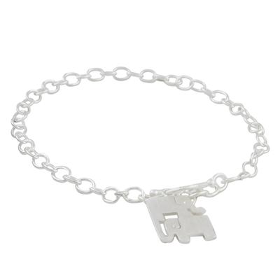925 Sterling Silver Handmade Elephant Family Charm Bracelet