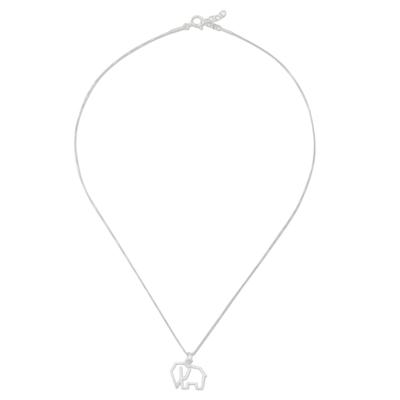 Handmade 925 Sterling Silver Elephant Pendant Necklace