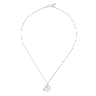 Handcrafted Sterling Silver St Bernard Dog Pendant Necklace