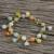 Gold plated jade and quartz link bracelet, 'Sweet Jade' - 18K Gold Plated Jade Quartz Link Bracelet with Hook Clasp thumbail