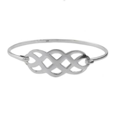 Sterling Silver Linked Infinity Symbol pendant Bracelet