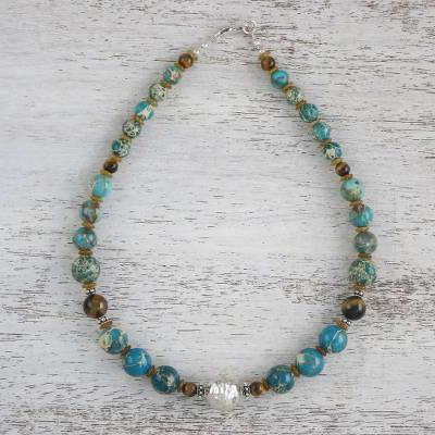 Novica Multi-gemstone beaded necklace, Colorful Radiance