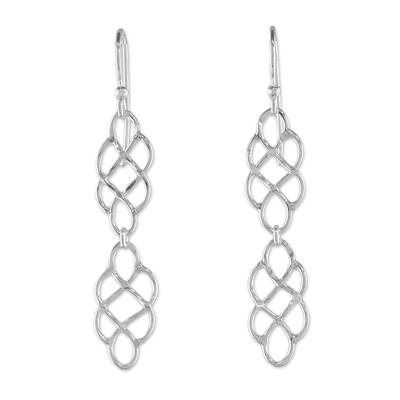 925 Sterling Silver Long Dangle Earrings with Hook Ear Wires