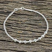 Silver beaded bracelet, 'Hill Tribe Sophisticate' - Hill Tribe Fine Silver 950 All Occasion Beaded Bracelet