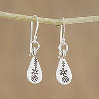 Sterling silver dangle earrings, 'Early Spring' - 925 Sterling Silver Spring Rain Dangle Earrings of Thailand