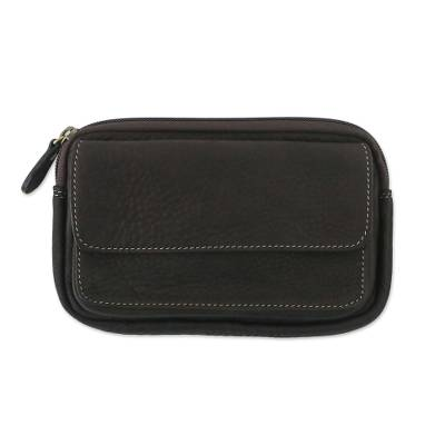 Novica Leather waist bag, Close at Hand