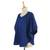 Cotton blouse, 'Wondrous in Blue' - Blue Cotton Women's Blouse with Butterfly Sleeves (image 2c) thumbail