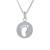 Sterling silver pendant necklace, 'Footprint' - Sterling Silver Footprint Pendant Necklace from Thailand (image 2a) thumbail