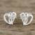 Sterling silver stud earrings, 'Comforting Hearts' - Sterling Silver Heart-Shaped Stud Earrings from Thailand thumbail
