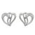Sterling silver stud earrings, 'Comforting Hearts' - Sterling Silver Heart-Shaped Stud Earrings from Thailand (image 2a) thumbail