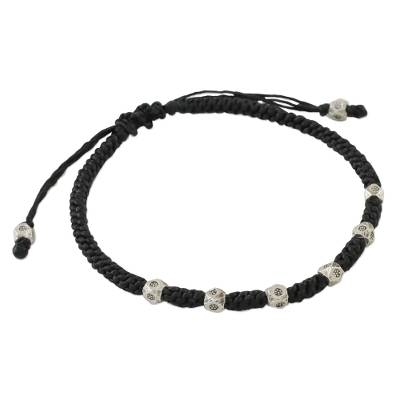 Karen Silver Beaded Bracelet from Thailand