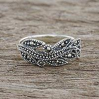 Marcasite pave ring, 'Vineyard Beauty'