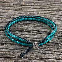 Featured review for Quartz beaded wrap bracelet, Sea Window